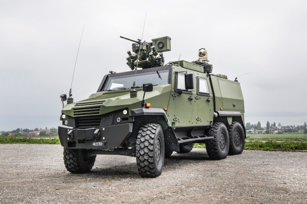 Switzerland selected the EAGLE 6x6 after an international competition, and is the first customer for this new variant, which it will use as the carrier if its new TASYS tactical reconnaissance system