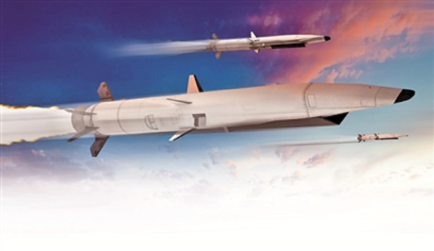 Photo shows the combat scenario of the hypersonic cruise missiles in the future.