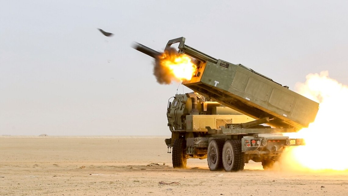 U.S. soldiers fire a High Mobility Artillery Rocket System. The Army's future precision strike missile will initially be fired from a HIMARS launcher. (Sgt. Bill Boecker/U.S. Army)