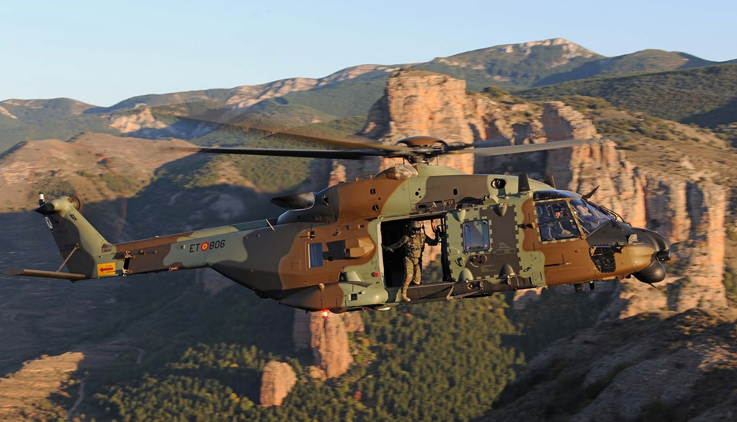 Spanish Army Airmobile Force (FAMET) NH90 tactical transport helicopter