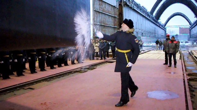 Sevmash shipyard float out first project 885M Serial-Produced Nuclear-Powered Submarine Novosibirsk