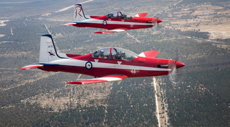RAAF pilots graduated from the final course flown on the Pilatus PC-9A turboprop trainer at RAAF Pearce, in Western Australia on December 6. From the next course, pilot training will be conducted in the recently-inducted PC-21 aircraft. (RAAF photo)