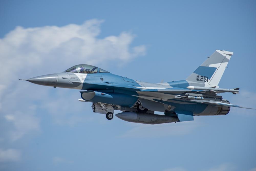 64th Aggressors Squadron  F-16 Fighting Falcon fighter jet