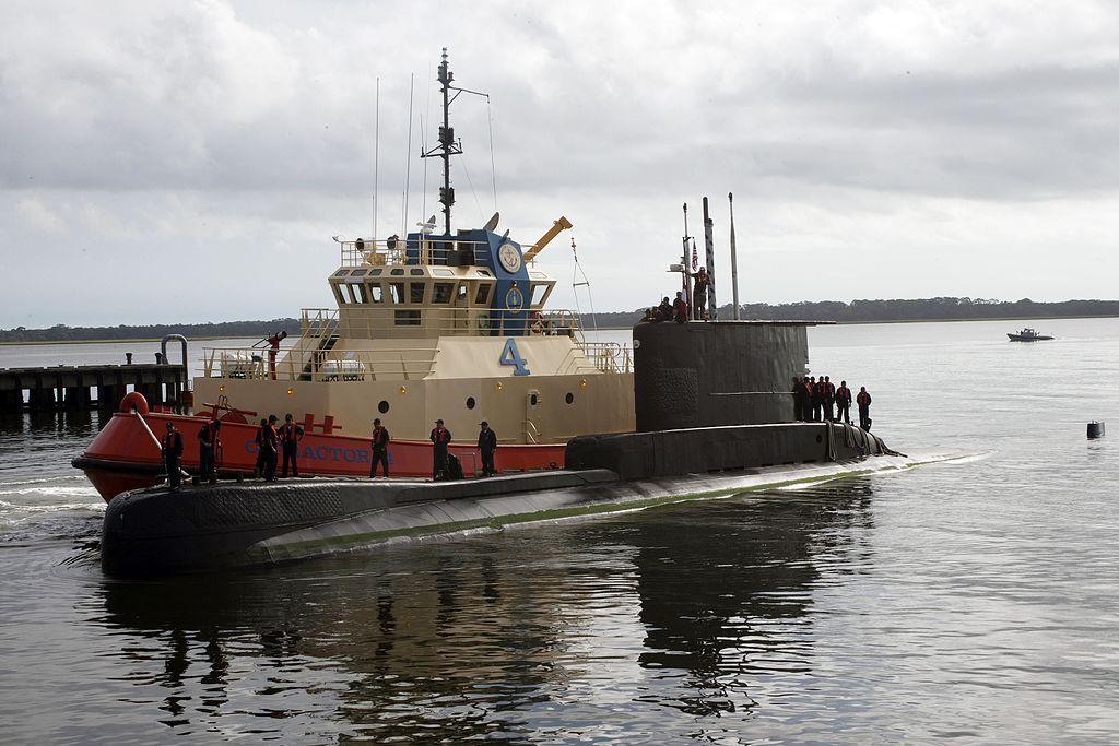 BAP Antofagasta during a port visit to Naval Submarine Base Kings Bay, United States