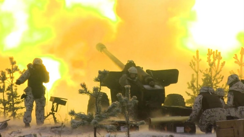 Finnish Artillerymen Trains in Cold-Weather Conditions