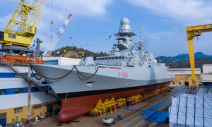 The Italian Navy's tenth and final FREMM multipurpose frigate, the future ITS Emilio Bianchi, was launched on Jan. 25 at the Fincantieri shipyard near Genoa. She will be handed over to the customer in 2021 after fitting out.