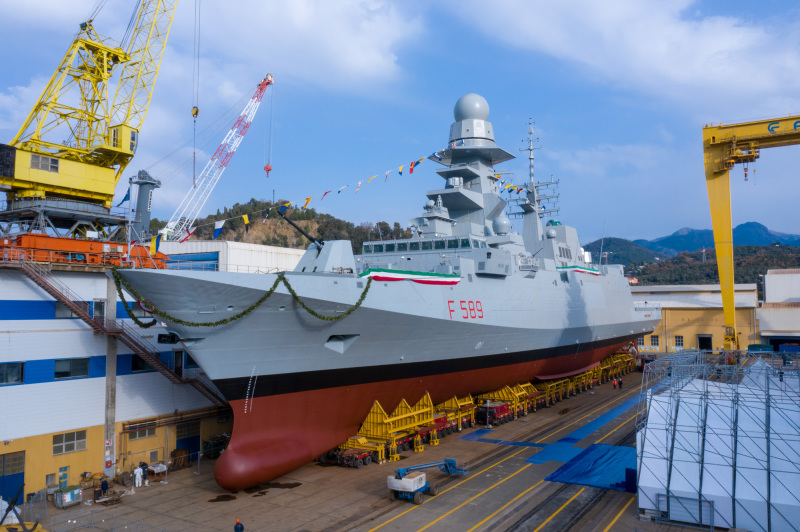 The Italian Navy's tenth and final FREMM multipurpose frigate, the future ITS Emilio Bianchi.