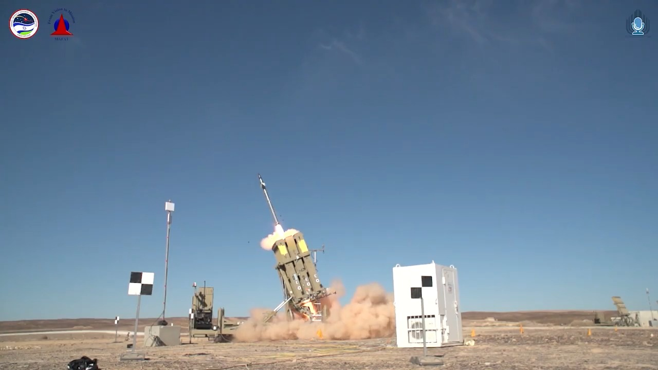 Israel Ministry of Defense Tests Advanced Iron Dome