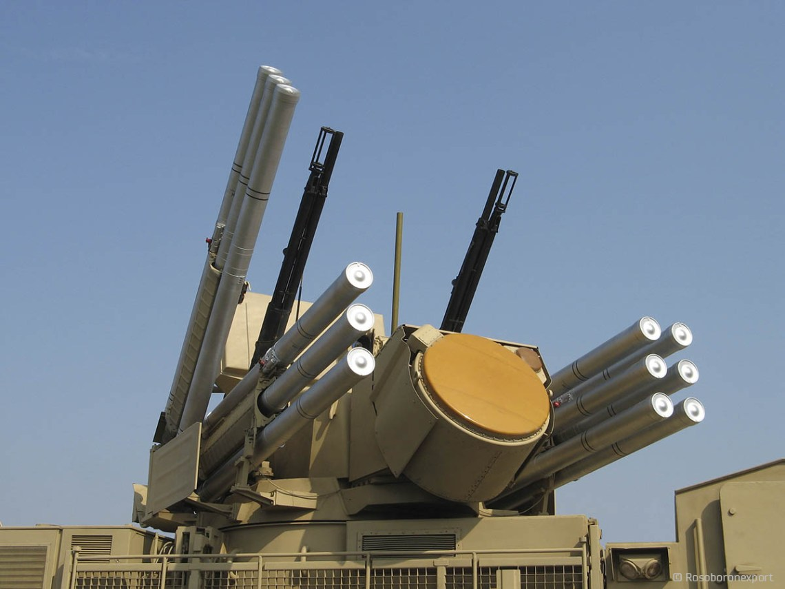 Pantsir self-propelled, medium-range surface-to-air missile systems