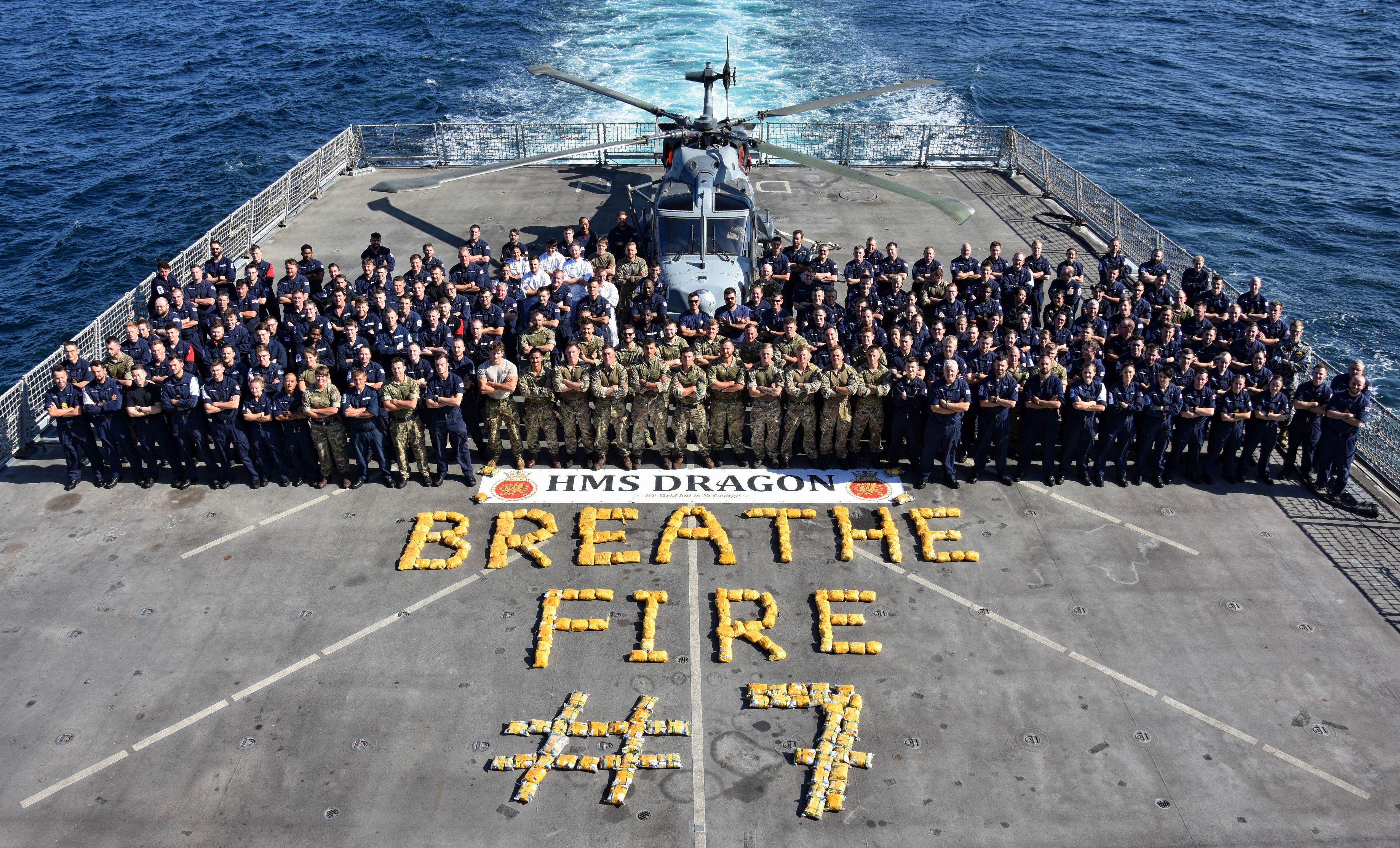 HMS Dragon 7th drugs bust