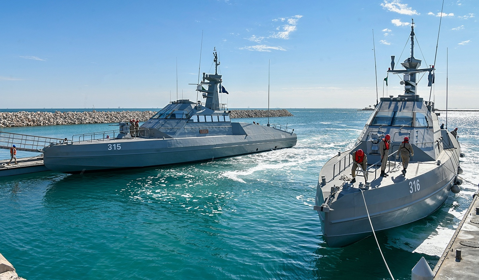 Royal Saudi Navy Receives First CMN HSI 32 High-Speed Interceptors