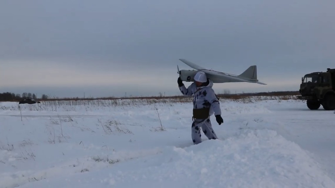 Russian Orlan-10 unmanned aerial vehicle (UAV)