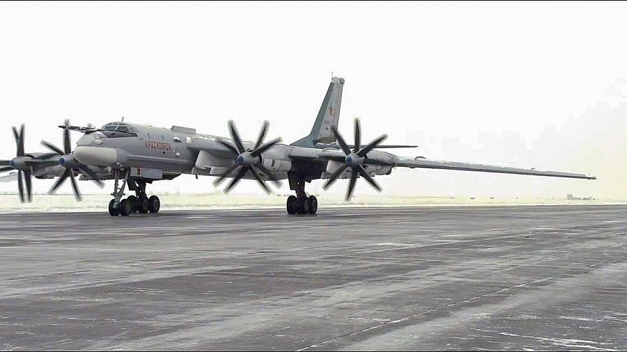 Tu-95MS Performed Low Temperature Long Flights