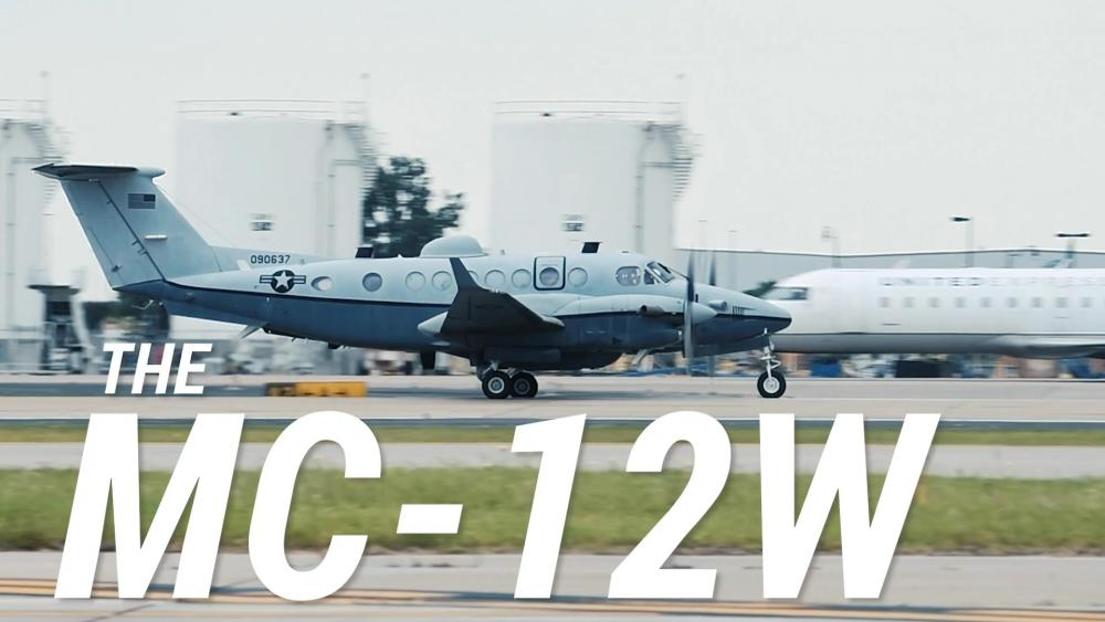 U.S. Air Force 137th Special Operations Wing MC-12W Aircraft