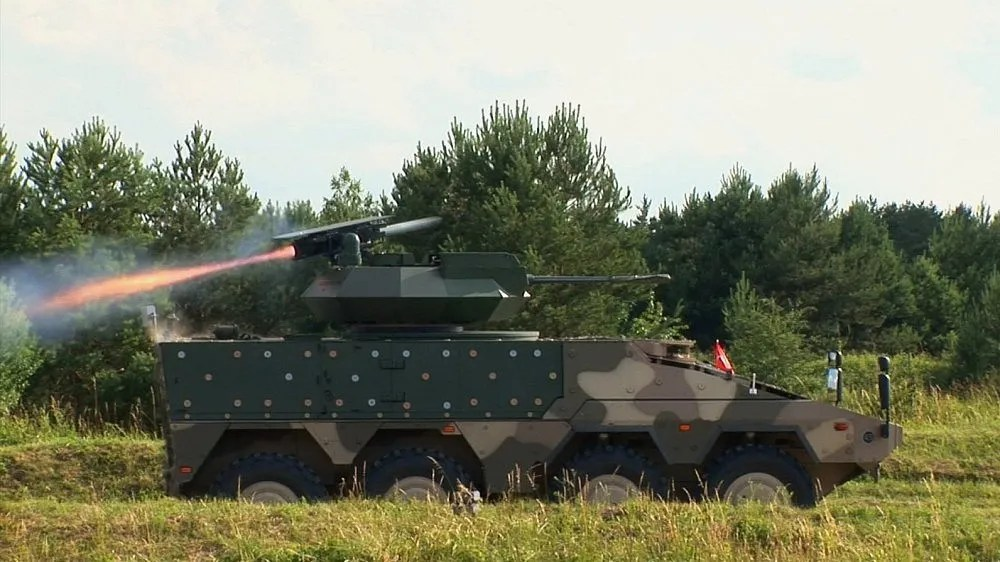 Rafael Advanced Defence Systems Spike anti-tank missile has also been reported that missiles will integrate Rheinmetall Boxer CRV vehicles.
