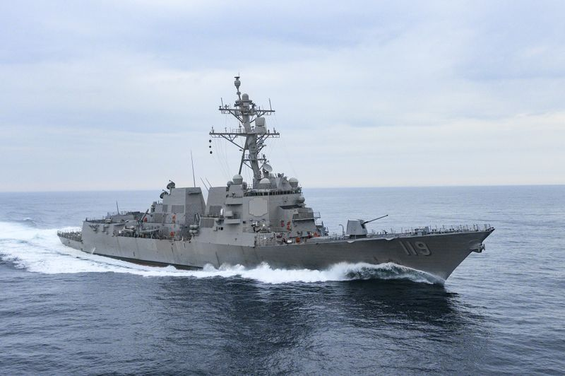 The destroyer DDG 119, the future USS Delbert D. Black