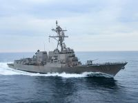 The destroyer DDG 119, the future USS Delbert D. Black