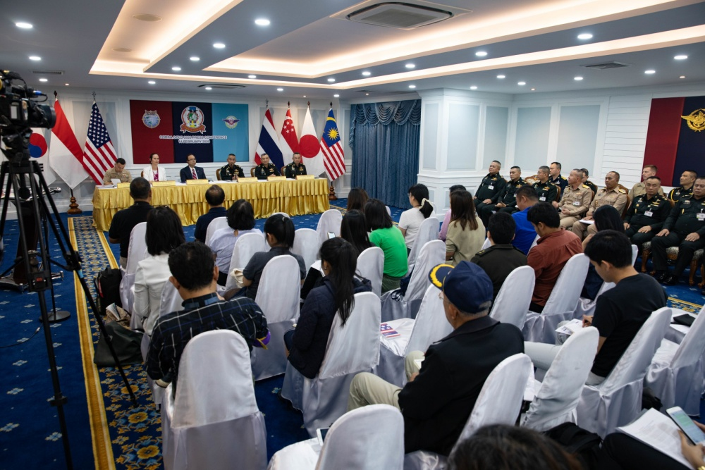 Royal Thai Armed Forces and U.S. Embassy-Bangkok held the Cobra Gold 2020 press conference Feb. 14 at the Royal Thai Armed Forces Headquarters briefing room, Bangkok.