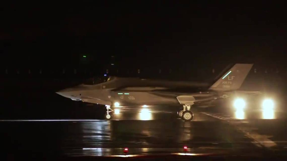 F-35A Lightning II Joint Strike Fighter arrive in Finland for HX Fighter Evaluations