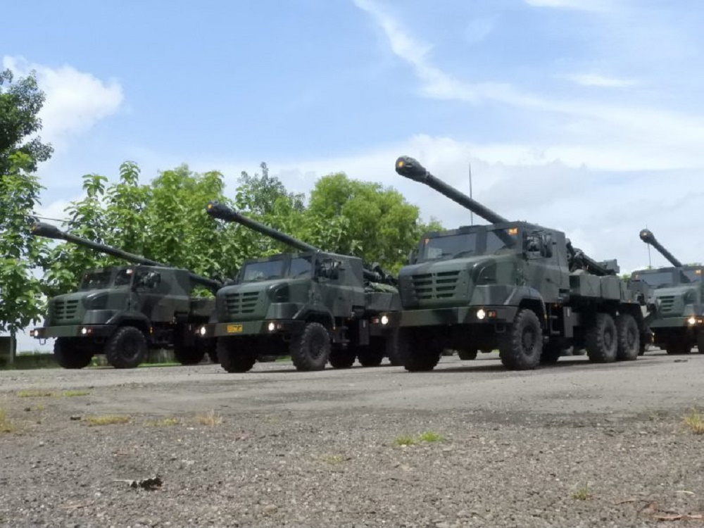Indonesian Army 1st Field Artillery Regiment CAESAR Self-Propelled Howitzers