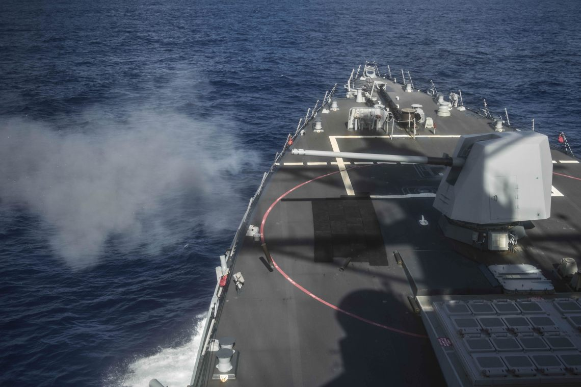 The Excalibur munition's naval 5-inch variant will offer long range precision fires to counter fast attack craft and to provide naval surface fire support.