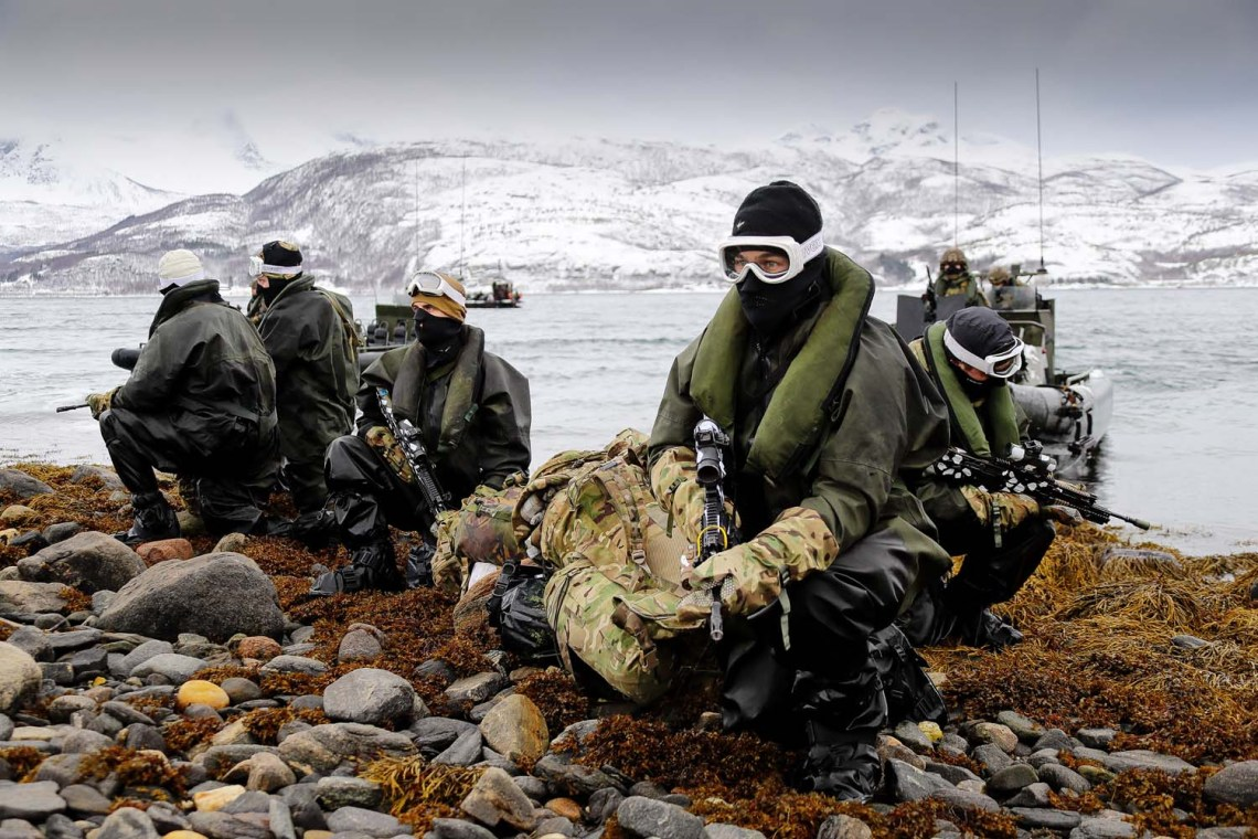 45 Commando and 47 Commando on raids along the Arctic coastline.