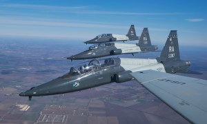 Northrop T-38 Talon two-seat twinjet supersonic jet trainer.