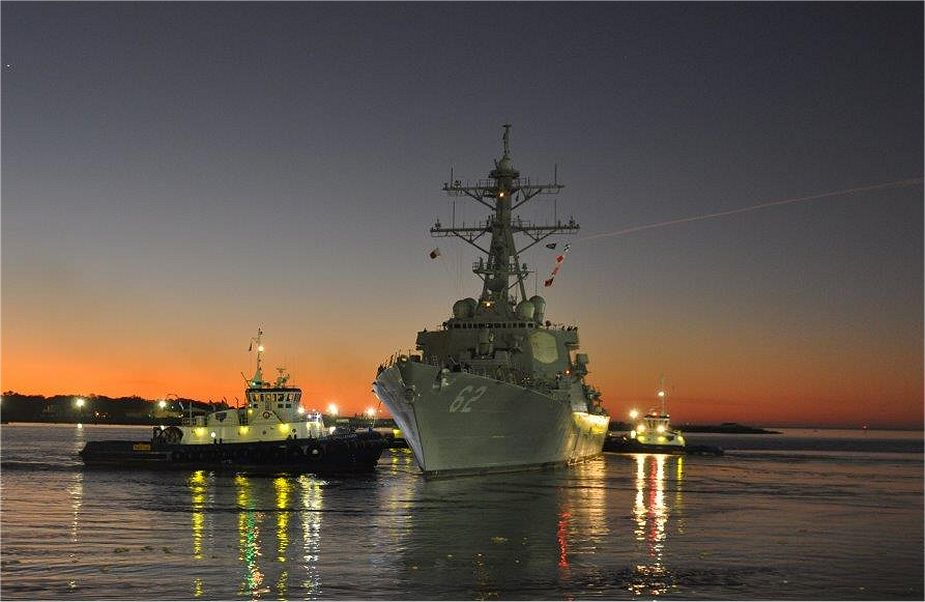U.S. Navy USS Fitzgerald (DDG 62) departs Huntington Ingalls Industries - Pascagoula shipyard