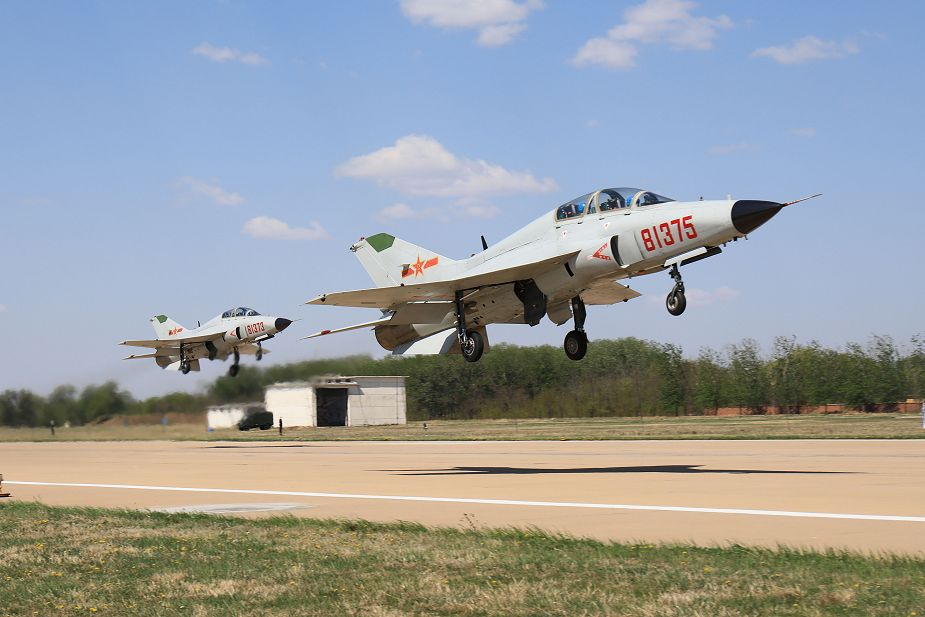 PLAN Guizhou JL-9 Mountain Eagle trainer jet marked as aircraft carrier trainer
