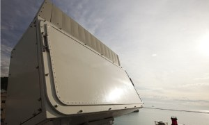 Typical of the sensors with which the NGIFF interrogators will have to work is the KRONOS naval radar, used on vessels of 400+t displacement. (Photo: Leonardo)