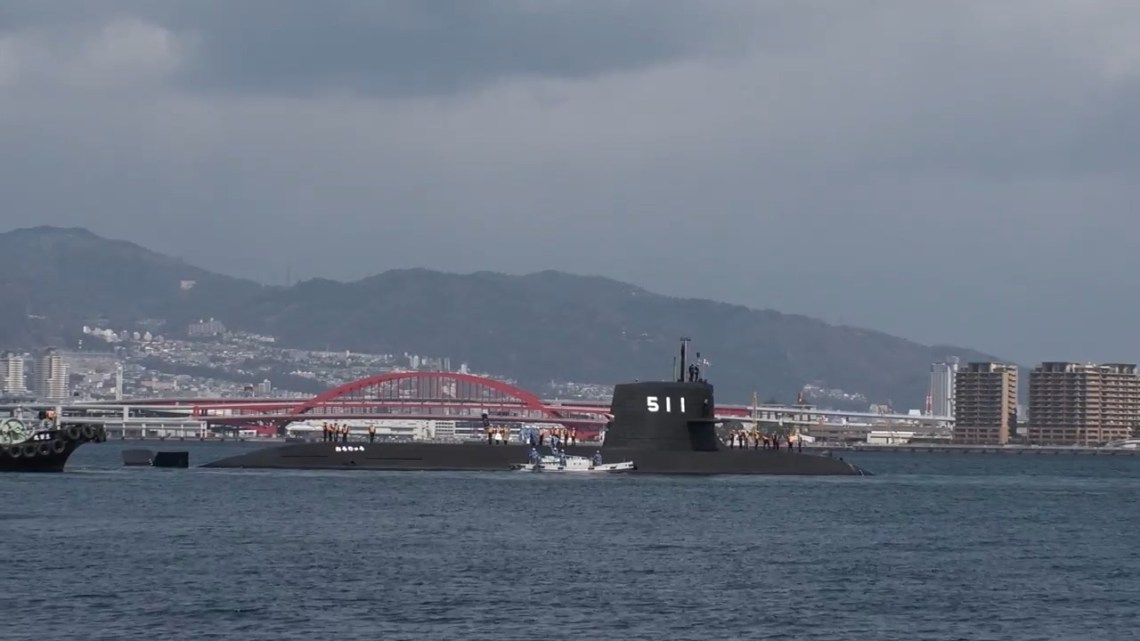Japan Maritime Self-Defene Lilithium-Ion Battery Submarine Ouryu