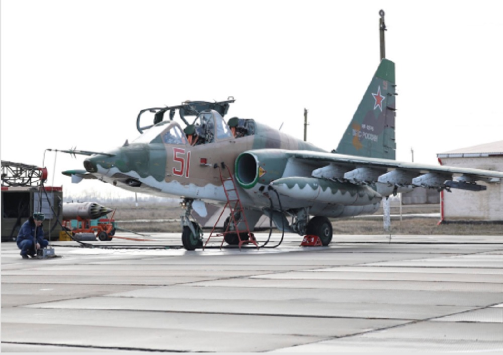 Russian Air Force Sukhoi Su-25SM3 Fighters Test Latest Attack System