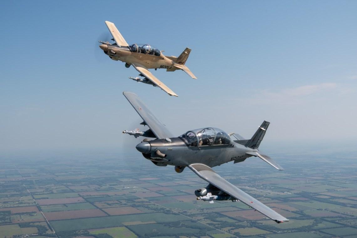 Textron Aviation Defense Beechcraft AT-6 Wolverine multi-role turboprop aircraft