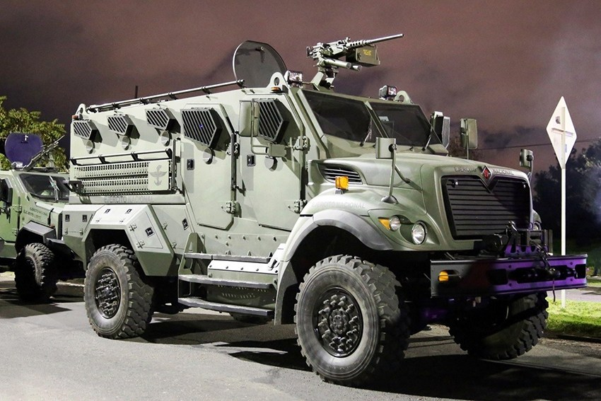 Colombian Army Armor International Hunter XL MRAP