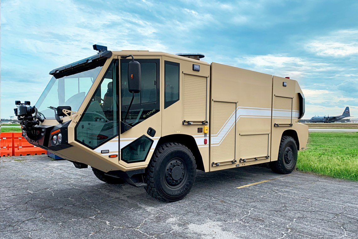 E-ONE Begins Delivery of 49 Air Transportable ARFF Vehicles TO U.S. Air Force