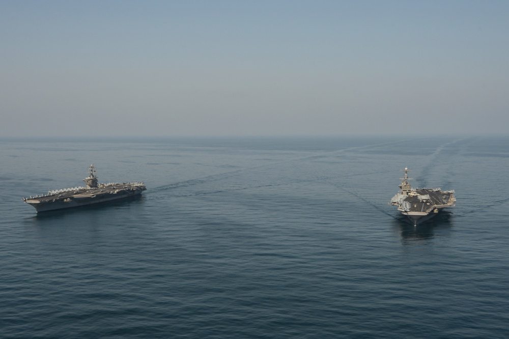 The Harry S. Truman Carrier Strike Group is deployed to the U.S. 5th Fleet area of operations in support of naval operations to ensure maritime stability and security in the Central Region.