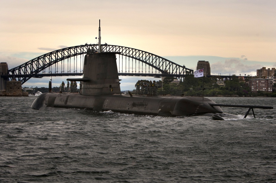 Royal Australian Navy HMAS Dechaineux Collins class submarines