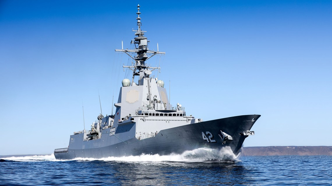 Royal Australian Navy HMAS Sydney (DDG 42) Hobart-class Air Warfare Destroyer (AWD)