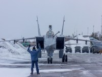 Russian Naval Aviation MiG-31BM Crews Train for In-Flight Refueling