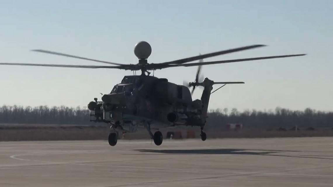 Russian Southern Military District Mil Mi-28UB Combat Training Helicopter