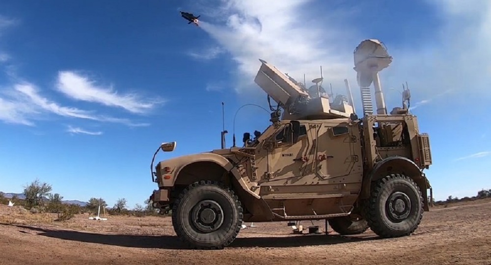 The Coyote Block 2 counter-drone weapon and KuRFS radar worked together to detect and engage a target in a recent test over the U.S. Army Yuma Proving Ground in Arizona. (Photo: U.S. Army)