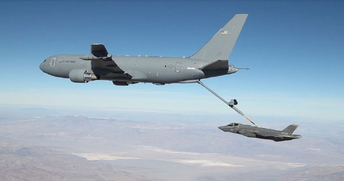 Boeing KC-46A Pegasus is a military aerial refueling and strategic military transport aircraft