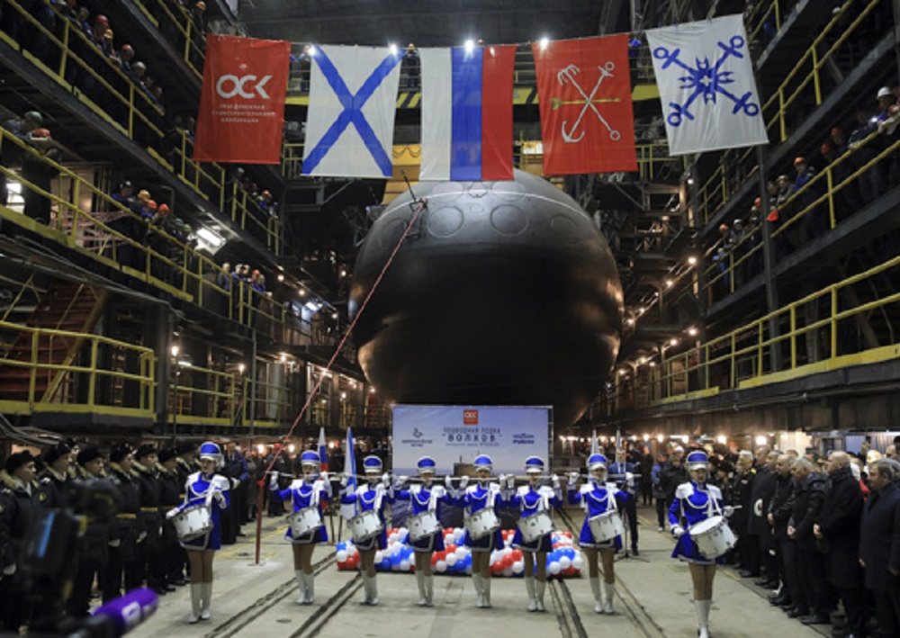 Volkhov Improved Kilo-Class Submarine Launched For Russiaan Pacific Fleet