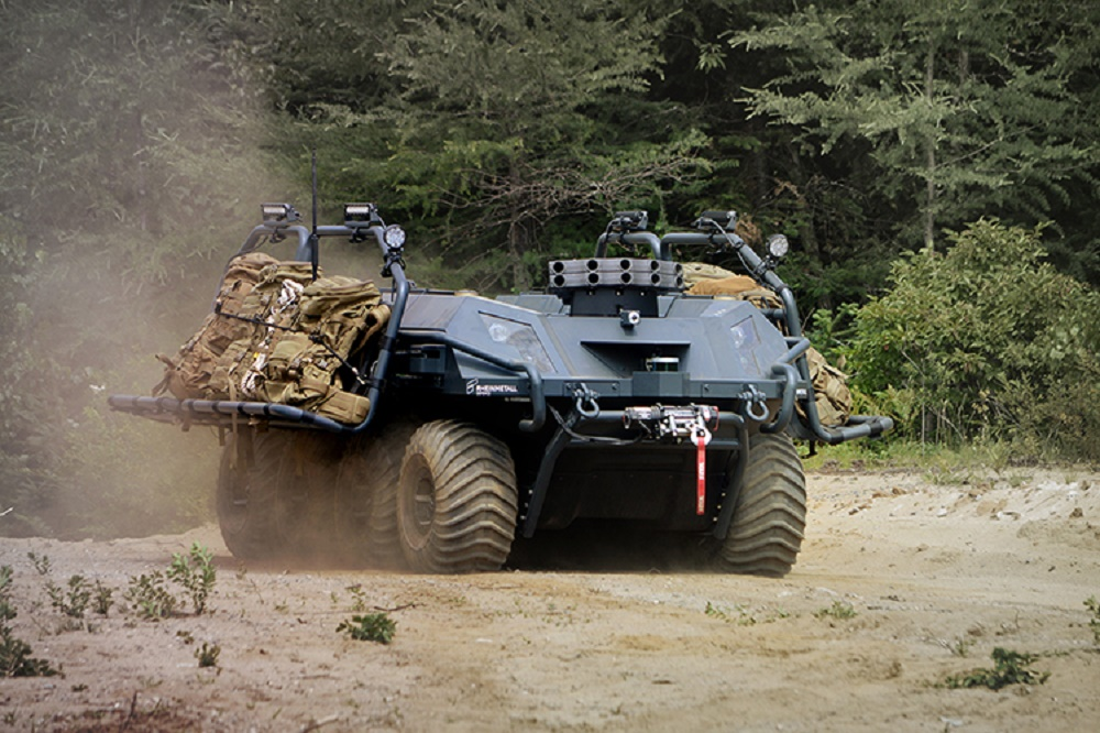 Rheinmetall's Mission Master Unmanned Ground Vehicle