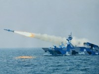 Chinese Type 022 Stealth Fast Missile Boats Conducts Live-fire Exercise