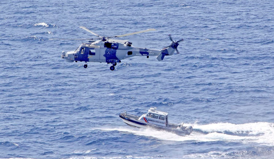 Wildcat helicopter carry out recce sorties over Bermuda