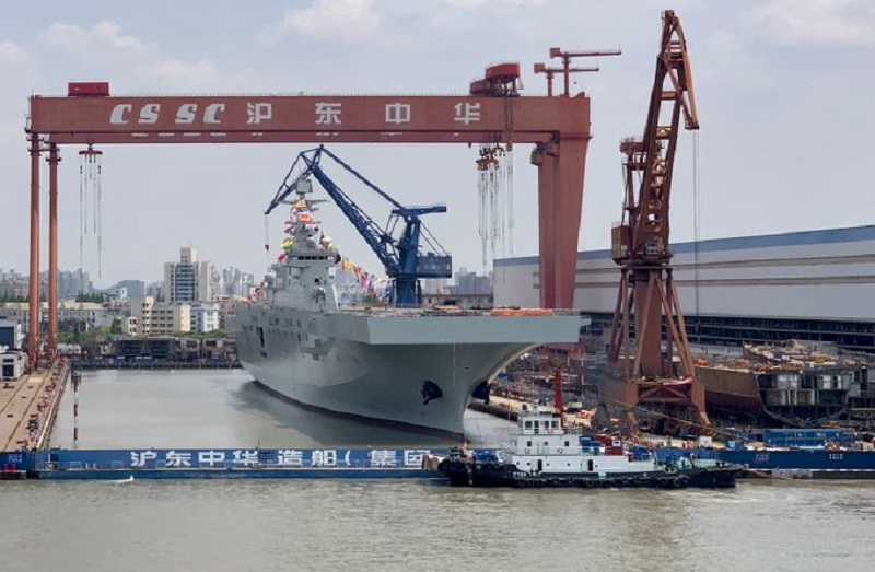 China Launches Second Type 075 Amphibious Assault Ship