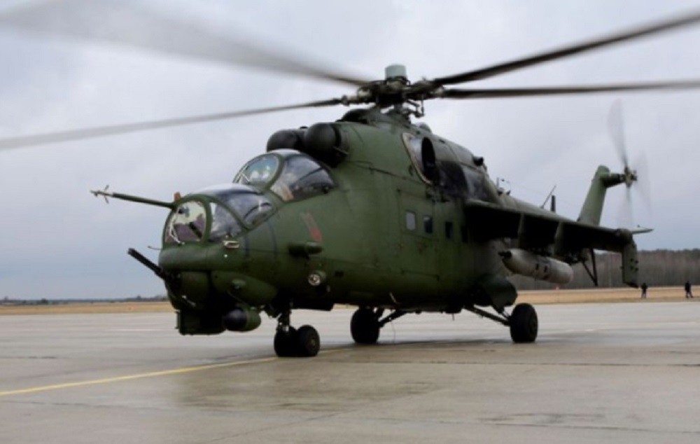 "Polish Mil Mi-24 ""Hind"" attack helicopters"