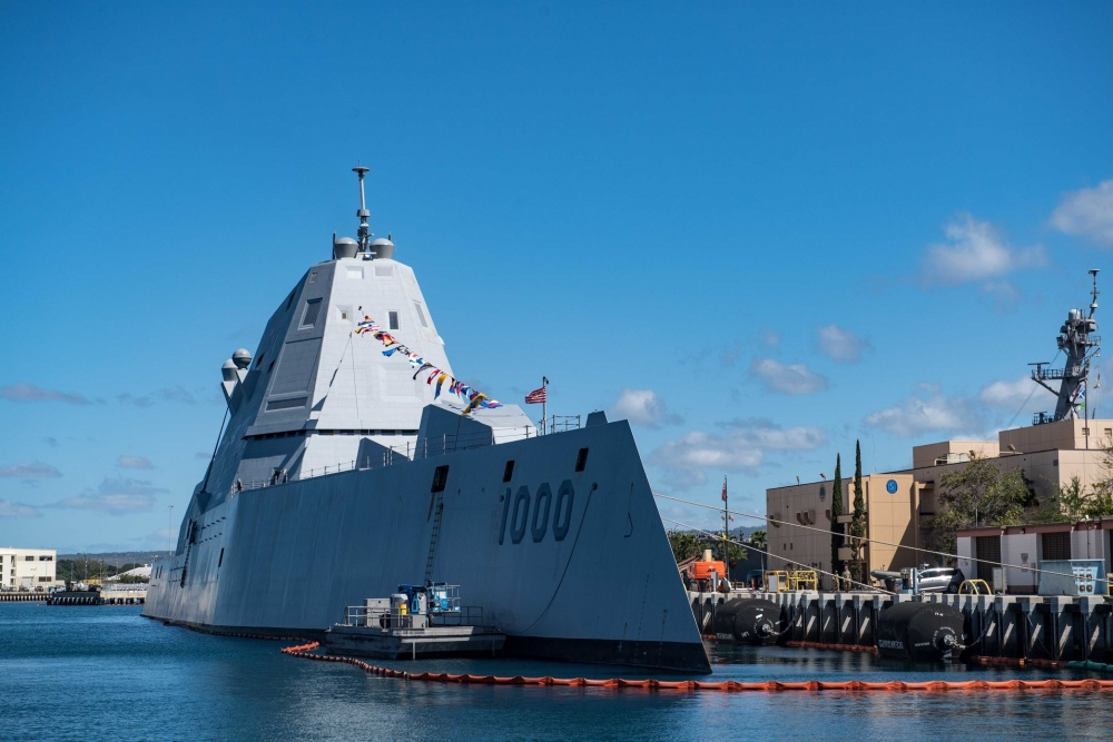 US Navy guided-missile destroyer USS Zumwalt (DDG 1000)