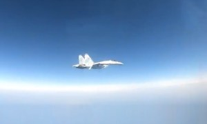 Second Unsafe Intercept by Russian SU-35 Fighter in U.S. Navy P-8A Maritime Patrol